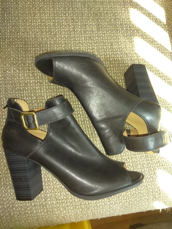 Other Peep Toe Black Bootie (SIZE 11)