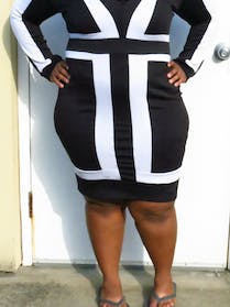 Other Black and white body con