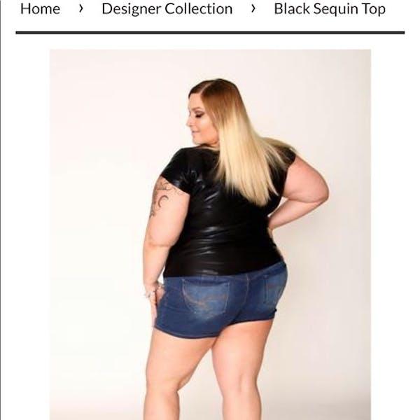 Other Black designer arttwear shiny stretch dressy shirt   NWT