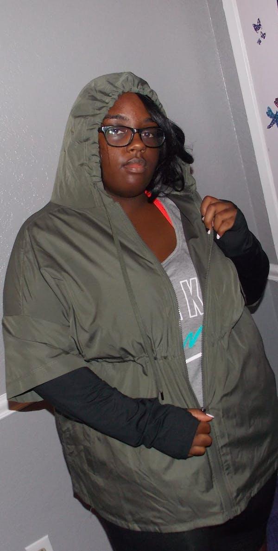 Target Army green workout jacket