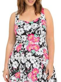 Torrid Floral Swing Dress