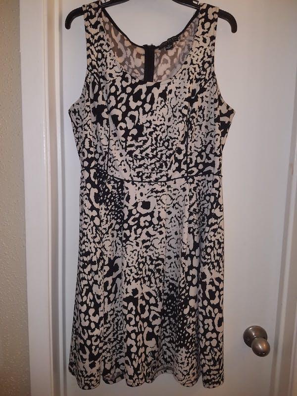 Forever 21+ Black/Cream Print Dress