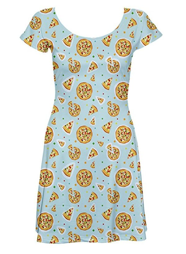 CowCow CowCow Pizza Confetti Skater Dress