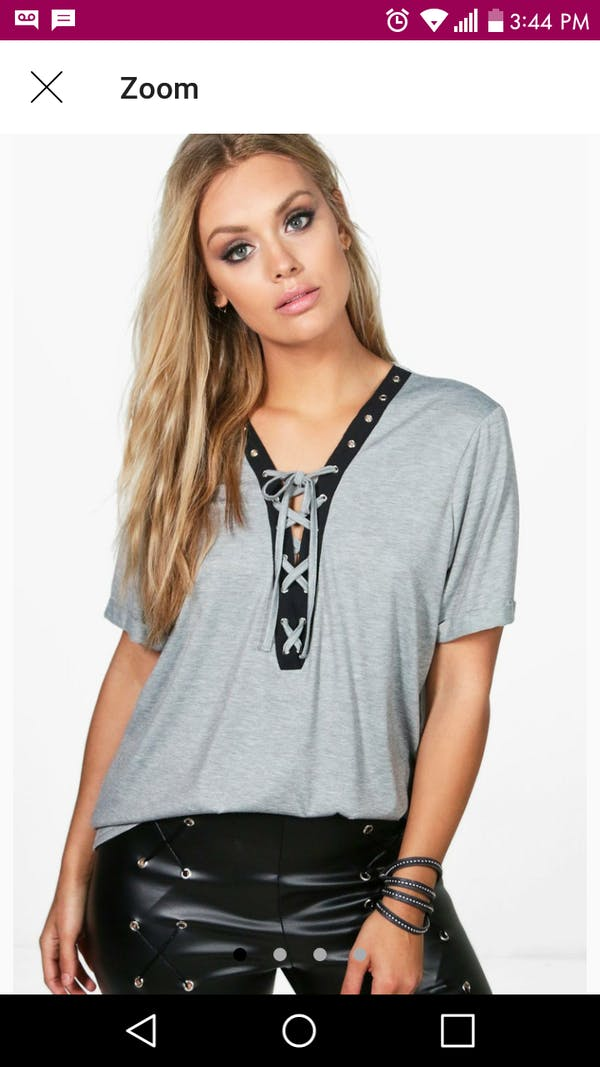 Boohoo Lace up top