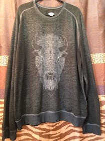 Mossimo Supply Co Comfy Dark Gray Buffalo Sweater