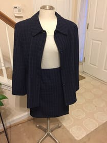 Other navy windowpane suit