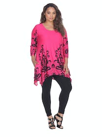 Other Plus Size Yanette Tunic Top
