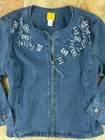 Other Denim Jacket Jean Jacket Zip Front 4 Pocket Sz 16