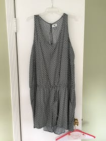 Old Navy Black and White Pattern Romper